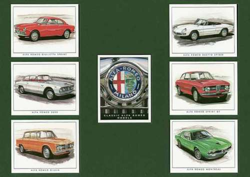Golden Era - Set Of 7 Alfa Romeo Cards - 1998