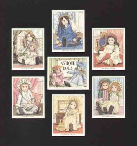 Golden Era - Set Of 7 Antique Dolls Cards - 1996