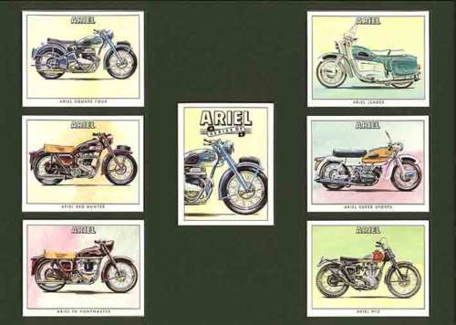 Golden Era - Set Of 7 Ariel Motorcycles - 1995