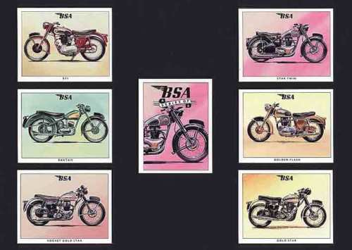 Golden Era - Set Of 7 Bsa Motorcycles - 1993