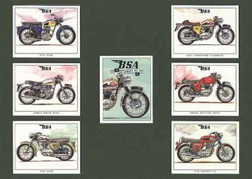 Golden Era - Set Of 7 Bsa Motorcycles 2nd - 1999
