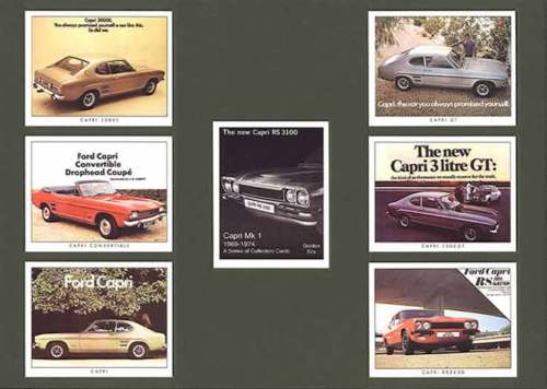 Golden Era - Set Of 7 Capri Mk I Cards - 2007