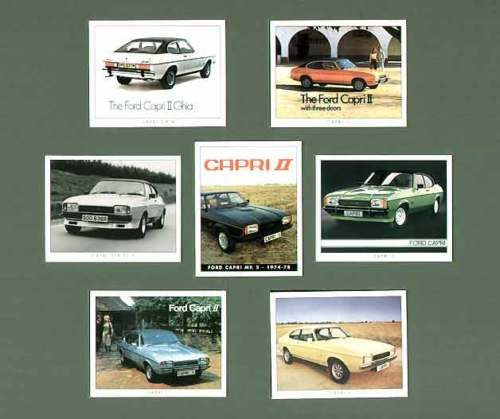 Golden Era - Set Of 7 Capri Mk Ii Cards - 2007
