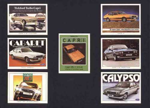 Golden Era - Set Of 7 Capri Mk Iii Cards - 2007