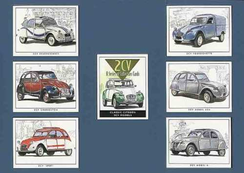 Golden Era - Set Of 7 Citroen 2cv Cards - 2001