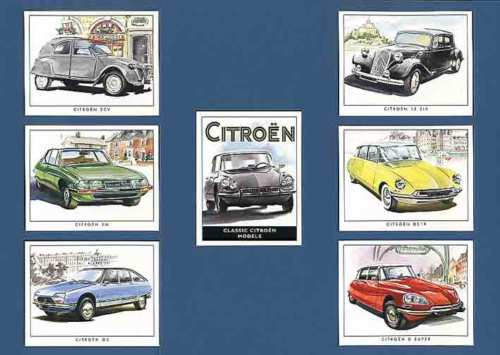 Golden Era - Set Of 7 Classic Citroen Cards - 2001