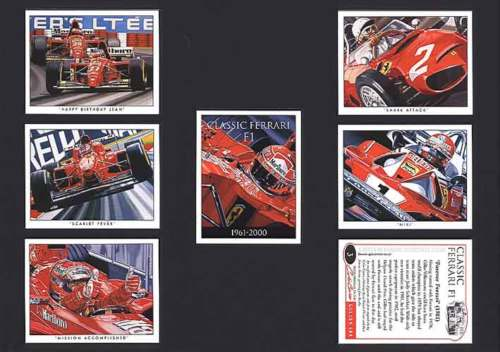 Golden Era - Set Of 7 Classic Ferrari Fi Cards - 2002