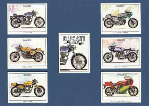 Golden Era - Set Of 7 Ducati Motorcycles - 1999