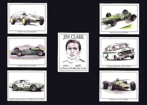 Golden Era - Set Of 7 Jim Clark Cards - 2000
