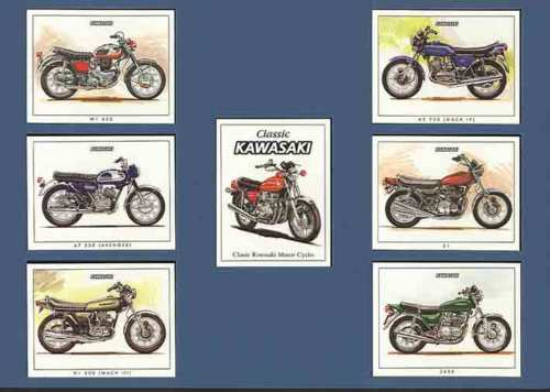 Golden Era - Set Of 7 Kawasaki Motorcycles - 1999