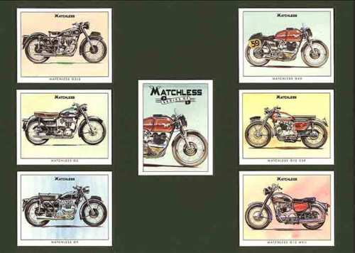 Golden Era - Set Of 7 Matchless Motorcycles - 1995