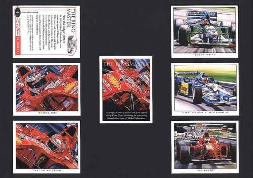 Golden Era - Set Of 7 Michael Schumacher Cards - 2002
