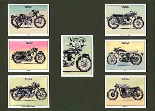 Golden Era - Set Of 7 Norton Motorcycles - 1993