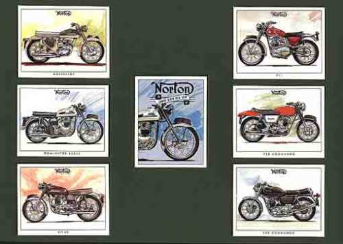 Golden Era - Set Of 7 Norton Motorcycles 2nd - 1998