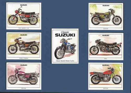 Golden Era - Set Of 7 Suzuki Motorcycles - 1998