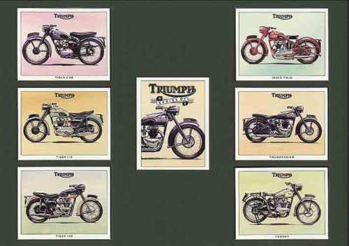 Golden Era - Set Of 7 Triumph Motorcycles - 1993