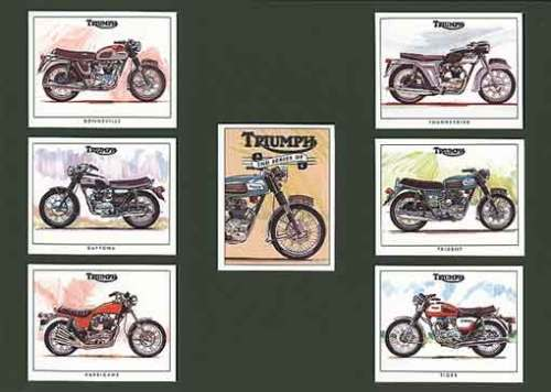 Golden Era - Set Of 7 Triumph Motorcycles 2nd - 1998