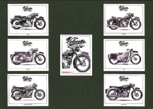 Golden Era - Set Of 7 Velocette Motorcycles - 1993