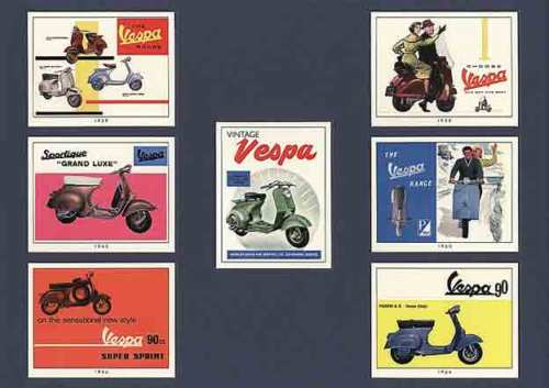 Golden Era - Set Of 7 Vincent Motorcycles - 1995