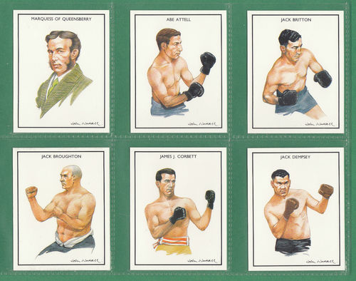 Ideal Albums Ltd. - Set Of 25 Large Boxing Greats Cards - 1991