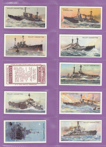 Imperial Publishing Ltd. - Set Of 25 Wills ' The World's Dreadnoughts ' Cards