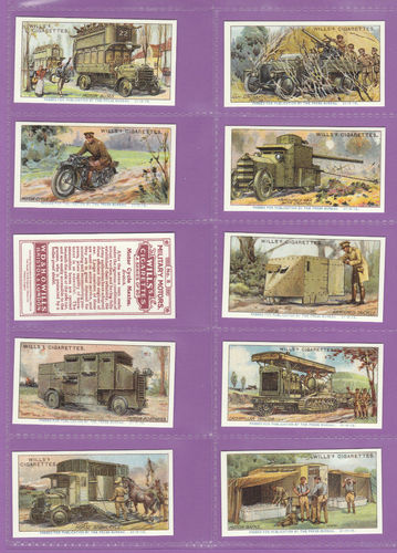 Imperial Publishing Ltd. - Set Of 50 Wills ' Military Motors ' Cards