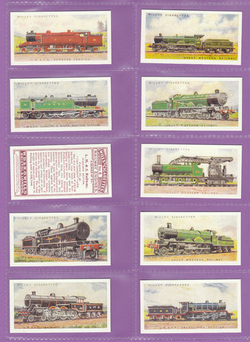 Imperial Publishing Ltd. - Set Of 50 Wills ' Railway Engines, 1924 ' Cards