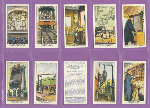 Imperial Publishing Ltd. - Set Of 50 Wills ' Railway Equipment ' Cards