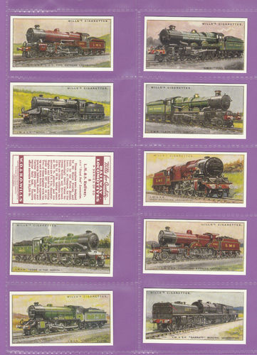 Imperial Publishing Ltd. - Set Of 50 Wills ' Railway Locomotives ' Cards