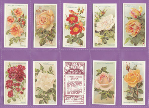 Imperial Publishing Ltd. - Set Of 50 Wills ' Roses 'a' Series ' Cards