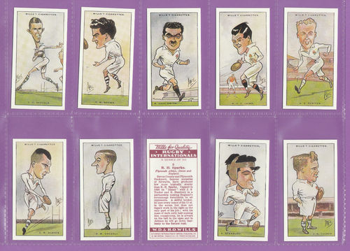 Imperial Publishing Ltd. - Set Of 50 Wills ' Rugby Internationals ' Cards