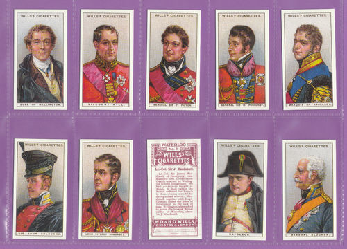 Imperial Publishing Ltd. - Set Of 50 Wills ' Waterloo ' Cards