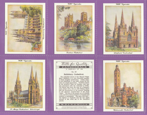 Imperial Publishing Ltd. - Set Of L 7 Wills ' Cathedrals ' Cards
