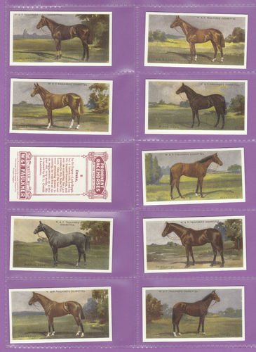Imperial Publishing Ltd - Set Of 25 Faulkner ' Prominent Racehorses ' Cards