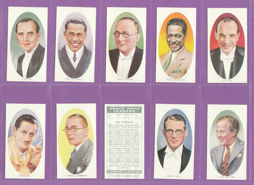 Imperial Publishing Ltd - Set Of 25 Lambert & Butler ' Dance Band Leaders' Cards