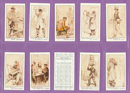 Imperial Publishing Ltd - Set Of 25 Lambert & Butler ' London Characters ' Cards