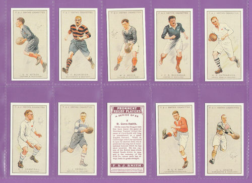 Imperial Publishing Ltd - Set Of 25 Smith ' Prominent Rugby Players ' Cards