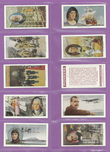 Imperial Publishing Ltd - Set Of 50 Churchman ' Pioneers ' Cards