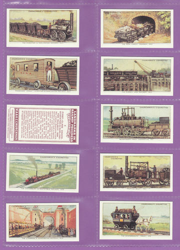 Imperial Publishing Ltd - Set Of 50 Churchman ' Railway Progress ' Cards
