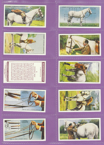 Imperial Publishing Ltd - Set Of 50 Lambert & Butler ' Horsemanship ' Cards