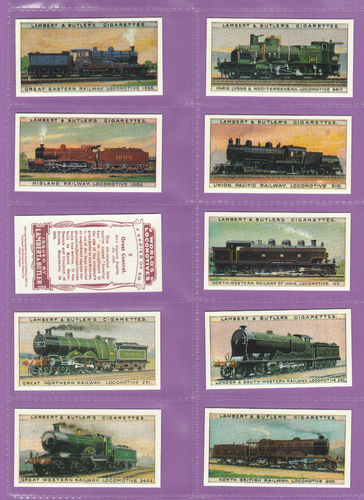 Imperial Publishing Ltd - Set Of 50 Lambert & Butler ' Worlds Locomotives' Cards