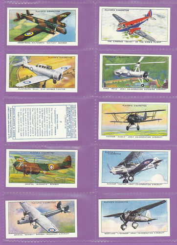 Imperial Publishing Ltd - Set Of 50 Player's ' Aircraft Of The R.a.f. ' Cards