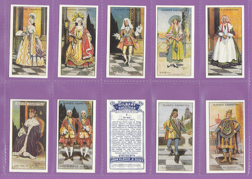 Imperial Publishing Ltd - Set Of 50 Player's ' Gilbert & Sullivan 2nd ' Cards