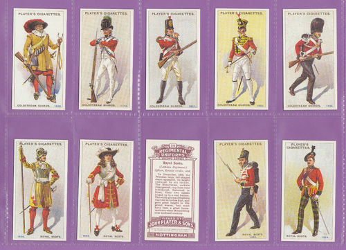 Imperial Publishing Ltd - Set Of 50 Player's ' Regimental Uniforms 2nd ' Cards