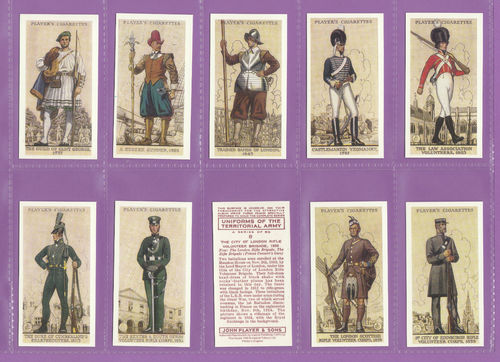 Imperial Publishing Ltd - Set Of 50 Player's ' Uniforms Of The Terr Army ' Cards