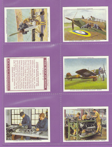 Imperial Publishing Ltd - Set Of M48 Churchman ' The R.a.f. At Work ' Cards