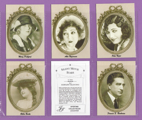Jf Sporting Collectibles - Set Of L 24 Silent Movie Stars