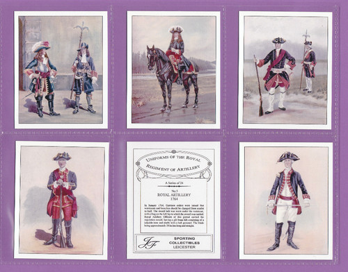 Jf Sporting Collectibles - Set Of L 24 Uniforms Of Royal Regiment Of Artillery