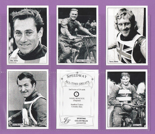 Jf Sporting Collectibles - Set Of Xl24 Speedway All-time Greats Cards 2nd - 1999