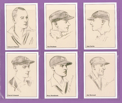 Jf Sporting Collectibles - Set Of Xl 15 Australian Cricketers Of 1930